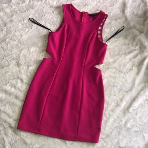 Pink dress material girl size large
